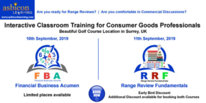 Range Review & Financial Acumen for CPG Professionals- Classroom Courses in Surrey, UK